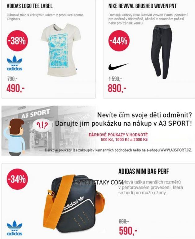 adidas, nike, dámská trička, kalhoty, malé tašky-A3 SPORT leták