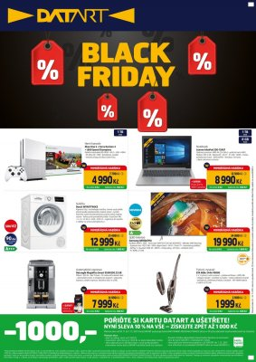 Leták Datart Black Friday platný od 2019-11-18 do 2019-11-24